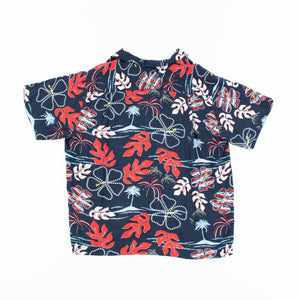 Vintage 'Blue Palm' Hawaiian Shirt - American Madness