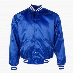 Vintage 'Royal Blue' Satin Baseball Jacket - American Madness