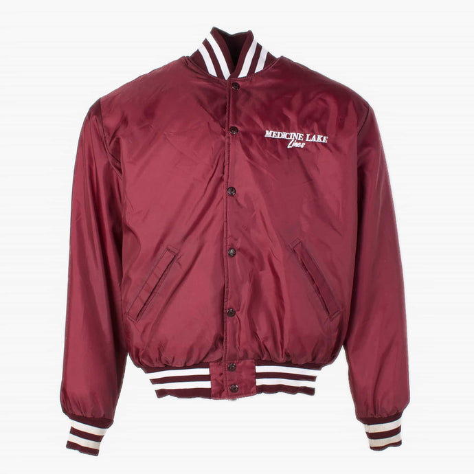 Vintage 'Medicine Lake' Satin Baseball Jacket - American Madness