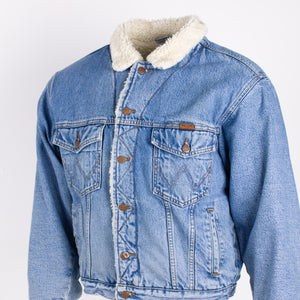 Vintage Wrangler Sherpa-lined Denim Jacket