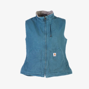 Vintage Carhartt Insulated Vest - Blue