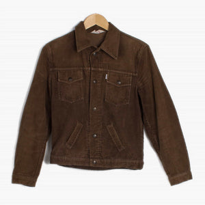 Vintage Levi's Corduroy Trucker Jacket - Brown - American Madness