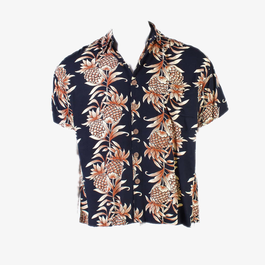 Vintage 'Pineapple Lava' Hawaiian Shirt - American Madness