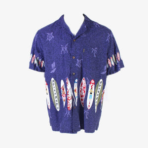 Vintage 'Palm Wave' Hawaiian Shirt