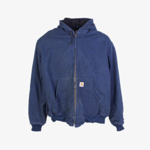 Vintage Carhartt Active Hooded Jacket - Blue