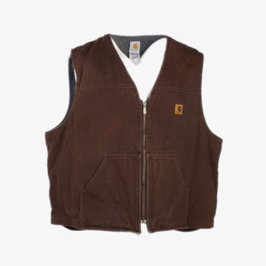 Vintage Carhartt Insulated Vest - Brown