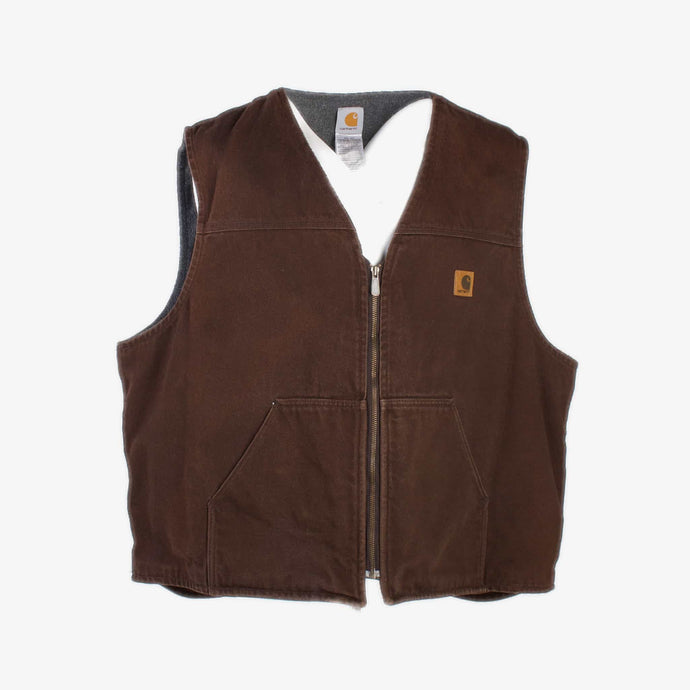 Vintage Carhartt Insulated Vest - Brown - American Madness