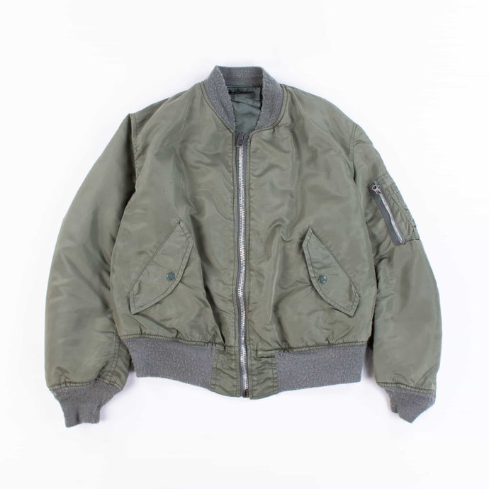 Vintage 1970's US Army MA-1 Bomber Jacket - Green - American Madness