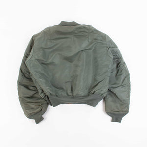 Vintage 1970's Concord Industries MA-1 Bomber Jacket - Green - American Madness