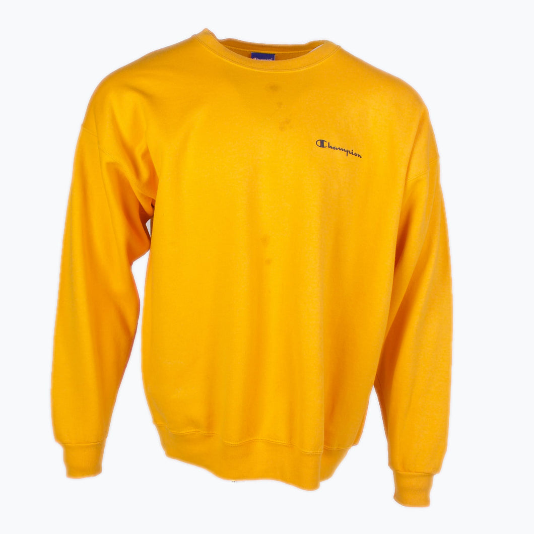 Vintage Champion Sweatshirt - Yellow - American Madness