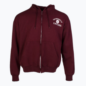 Vintage Champion Zip-up Sweatshirt - Burgundy