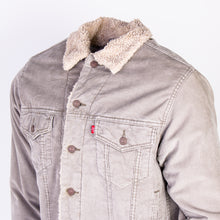 Vintage Levi's Corduroy Sherpa Trucker Jacket - Grey - American Madness