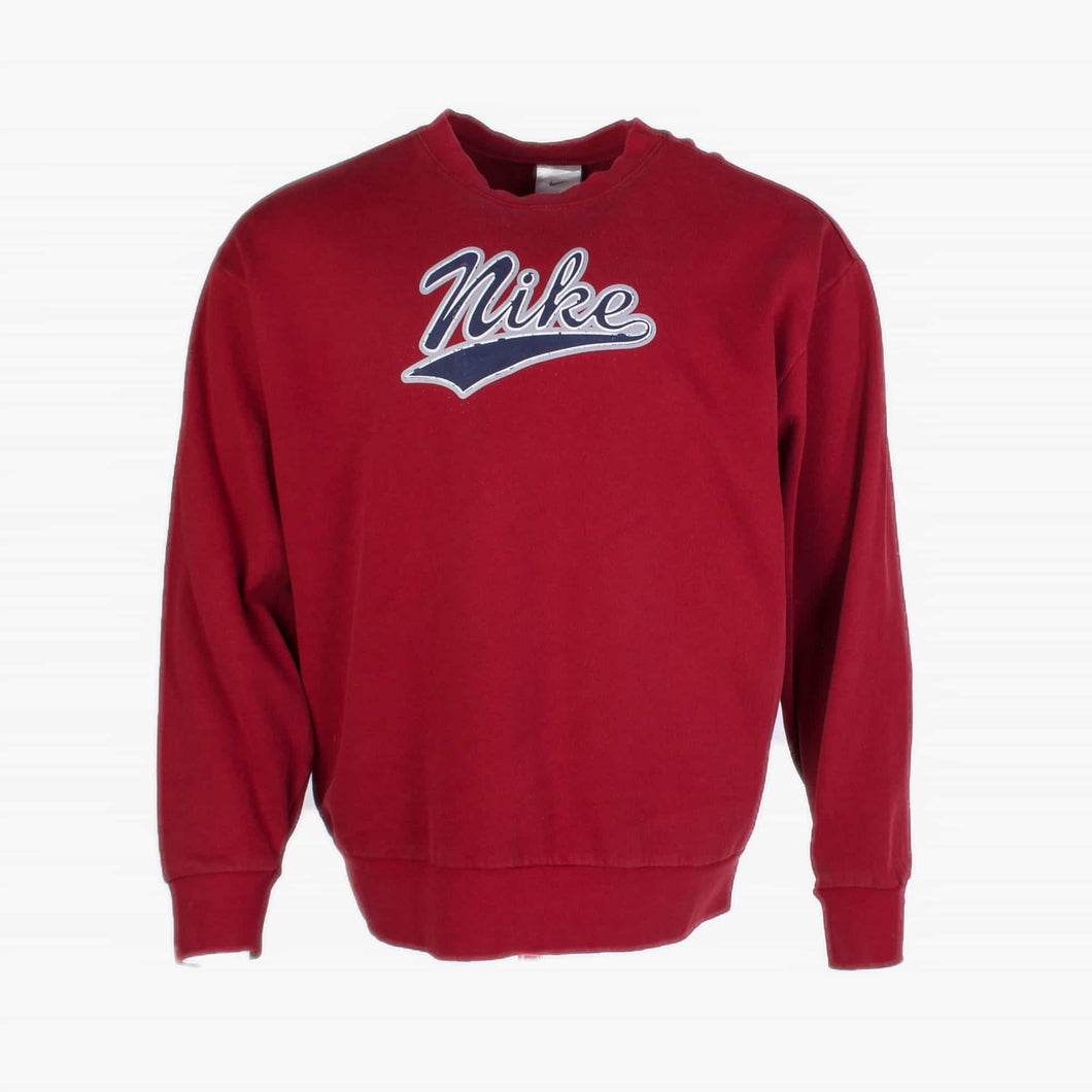 Vintage Nike Spellout Sweatshirt - Burgundy - American Madness