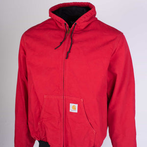 Vintage Carhartt Active Hooded Jacket - Red - American Madness