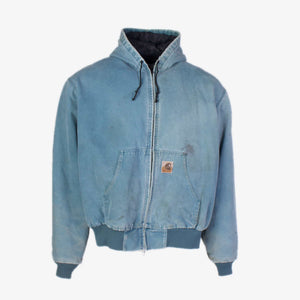 Vintage Carhartt Active Hooded Jacket - Blue - American Madness