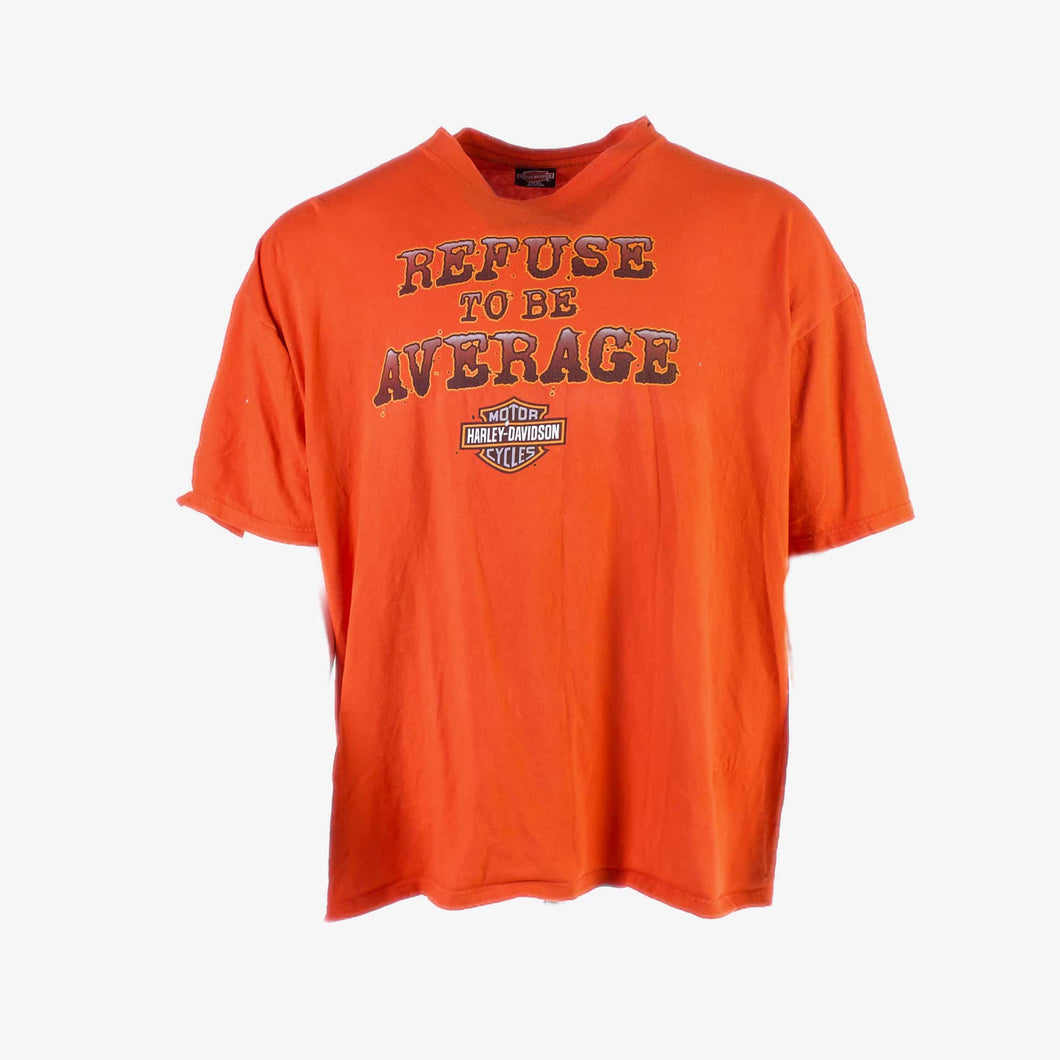 Vintage 'Refuse to be Average' Harley Davidson T-Shirt - American Madness