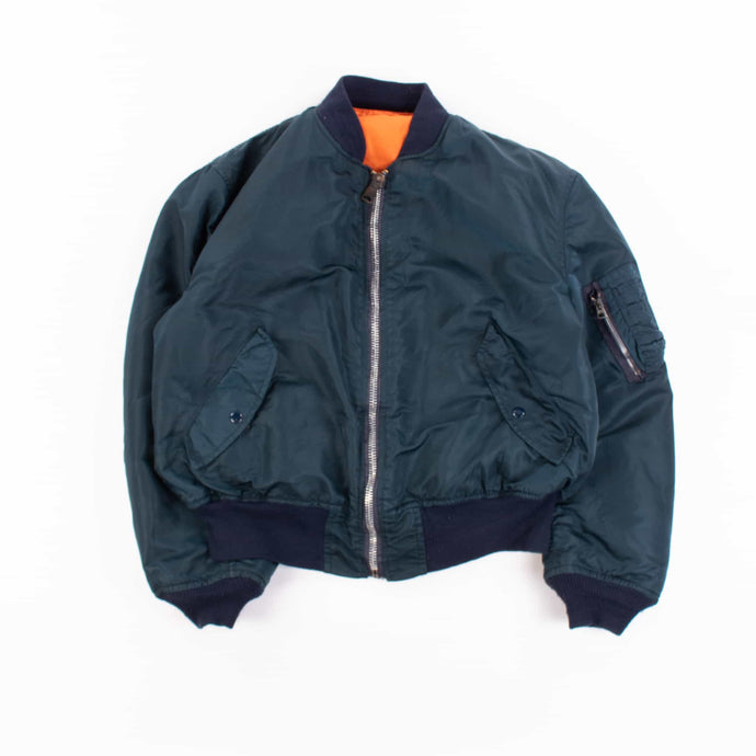 Vintage Alpha Industries Bomber Jacket - Navy