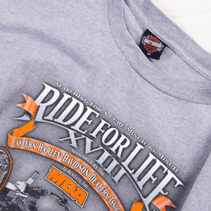 Vintage 'Ride For Life' Harley Davidson T-Shirt - American Madness