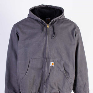 Vintage Carhartt Active Hooded Jacket - Grey - American Madness