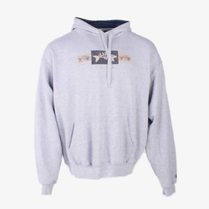 Vintage Spellout Champion Hoodie - Grey - American Madness