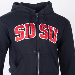 Vintage 'SDSU' Champion Zip-Up Hooded Sweatshirt - American Madness