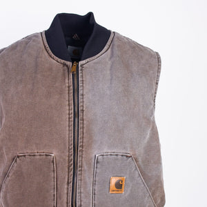 Vintage Carhartt Insulated Vest - Washed Brown - American Madness