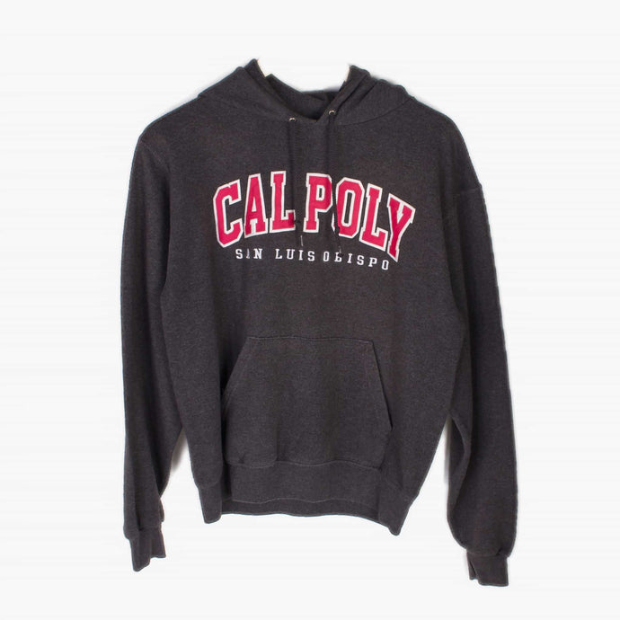 Vintage Champion 'Cal Poly' Hooded Sweatshirt - Grey - American Madness