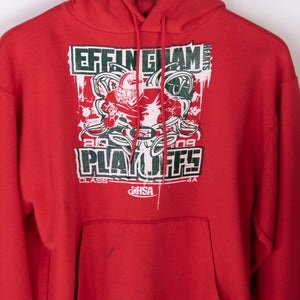 Vintage Champion Hooded Sweatshirt - Red - American Madness