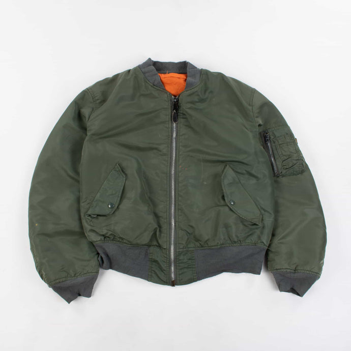 Vintage Alpha Industries Bomber Jacket - Green