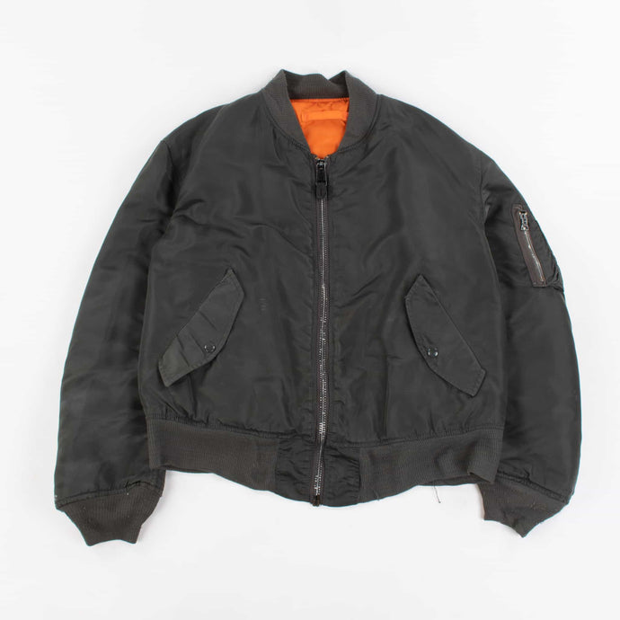 Vintage Alpha Industries Bomber Jacket - Dark Green