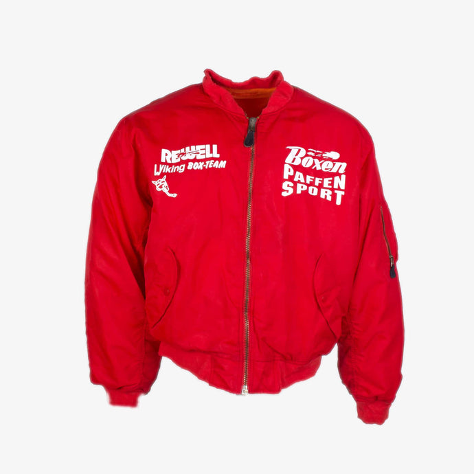 Vintage 'Rewell' Bomber Jacket - Red - American Madness