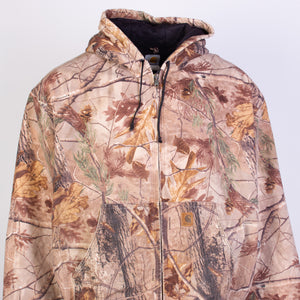 Vintage Carhartt Active Hooded Jacket - Camoflague - American Madness