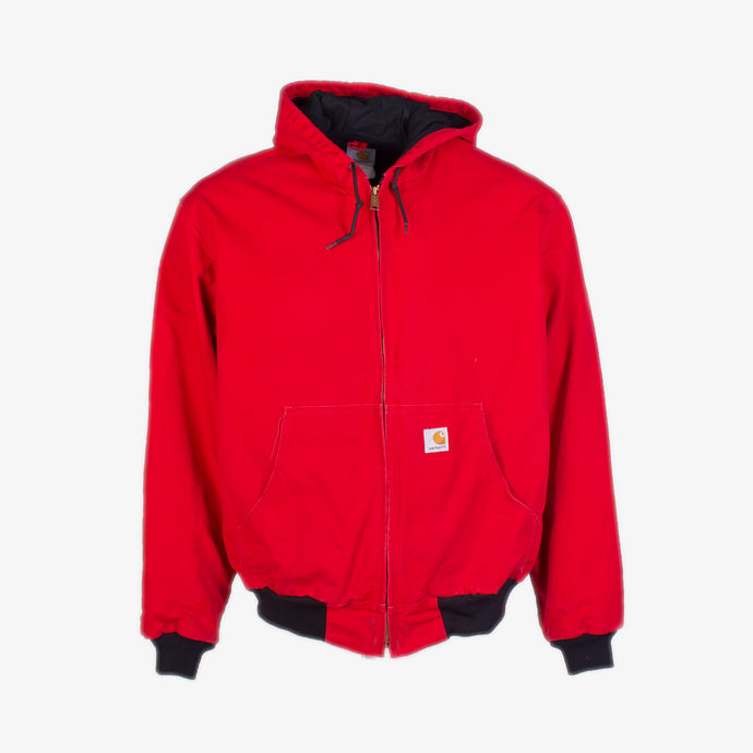 Vintage Carhartt Active Hooded Jacket - Red