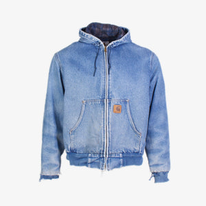 Vintage Carhartt Active Hooded Jacket - Denim