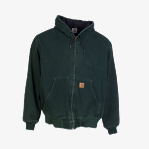 Vintage Carhartt Active Hooded Jacket - Green
