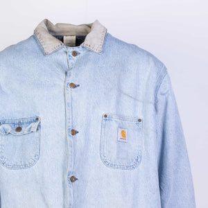 Vintage Carhartt Traditional Chore Jacket - Washed Denim - American Madness