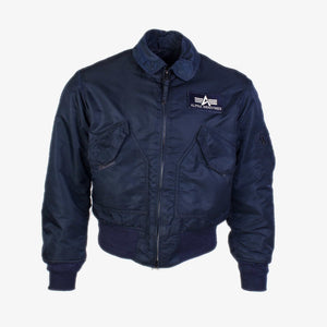 Vintage Alpha Industries MA-2 Jacket - Navy - American Madness