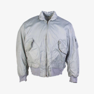 Vintage Alpha Industries MA-2 Bomber Jacket - Grey - American Madness
