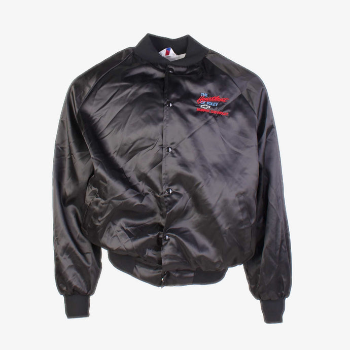 Vintage 'Murphy Chevrolet' Satin Baseball Jacket - Black - American Madness