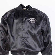 Vintage 'Antique Automobile Club' Satin Baseball Jacket - Black - American Madness