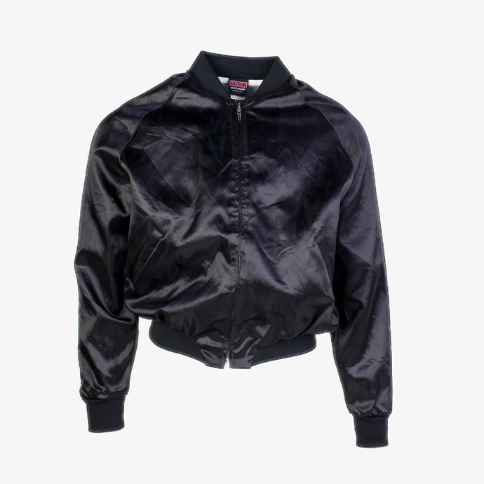 Vintage Satin Baseball Jacket - Black - American Madness