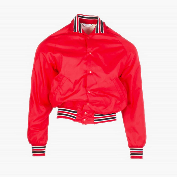 Vintage Satin Baseball Jacket - Red - American Madness