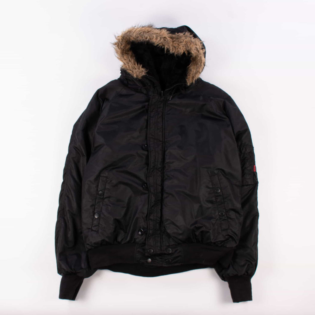 Vintage Schott NYC Fur Lined Parka - Black - American Madness