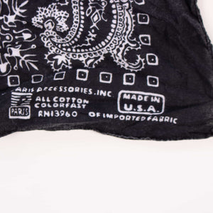 Original Vintage USA Fast Colour Bandana - Black - American Madness