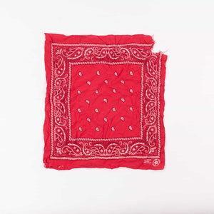 Original Vintage USA Fast Colour Bandana - Red - American Madness