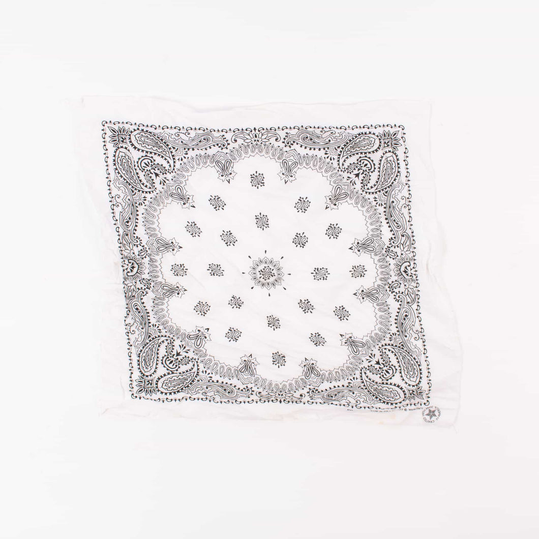 Original Vintage USA Fast Colour Bandana - White - American Madness
