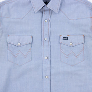 Vintage Wrangler Chambray Western Work Shirt - American Madness