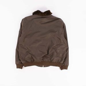 Vintage MA-1-Bomber Jacket With Fur Collar Brown - American Madness