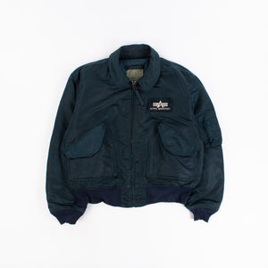 Vintage Alpha Industries CWU MA-2 Bomber Jacket - Navy - American Madness