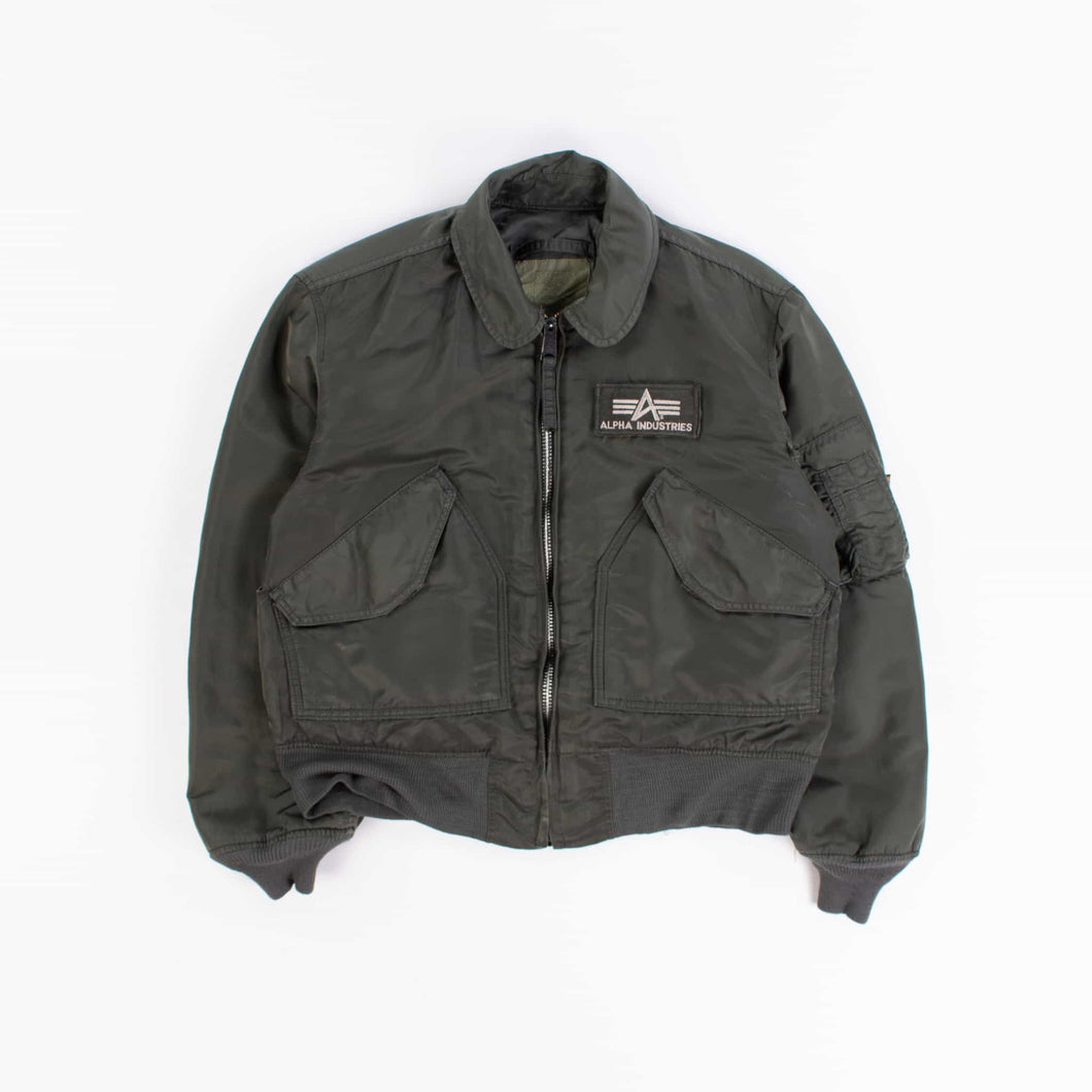 Vintage Alpha Industries CWU MA-2 Bomber Jacket - Green - American Madness